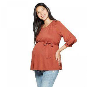 NWT Isabel Maternity Sandwashed Top Medium Brown